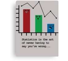 Statistics is the Art of Never Having to Say You're Wrong Canvas Print