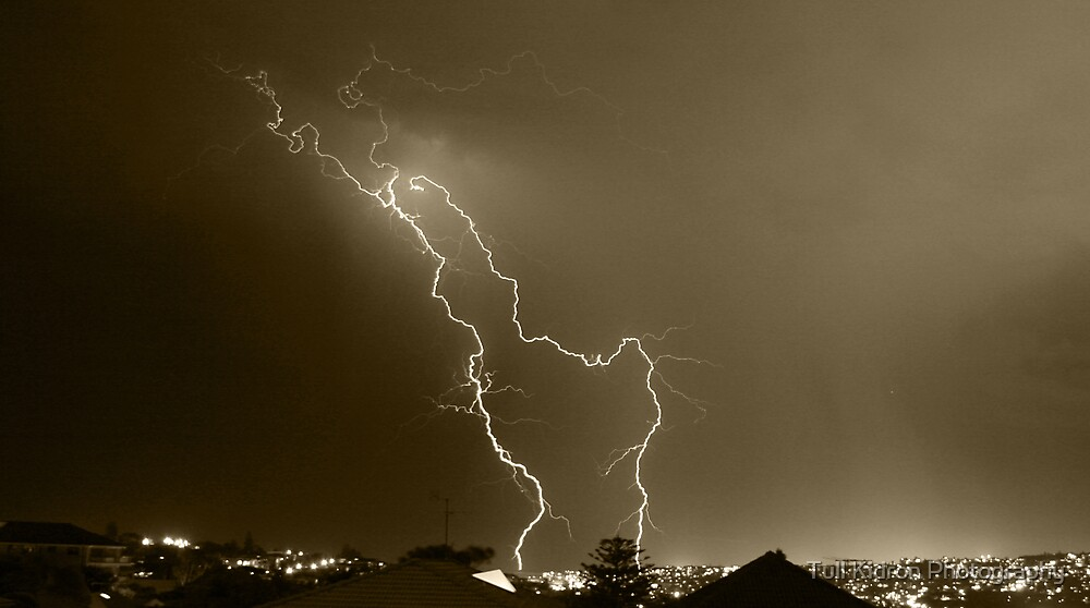 Lightning Over Suburbia by Tull Kidron Photography