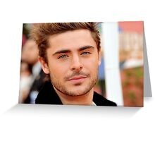 zac efron Greeting Card