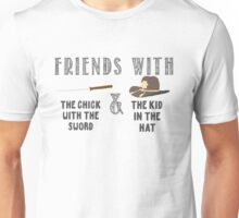 Friends With Sword and Hat - Walking Dead Unisex T-Shirt