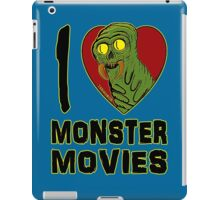 I Love Monster Movies iPad Case/Skin