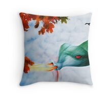 The Dragon Artist Throw Pillow