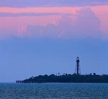 Sanibel Island Lighthouse Dawn by Kenneth Keifer