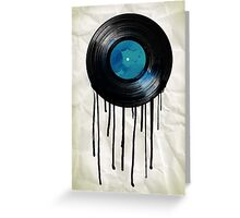 vinyl drip Greeting Card