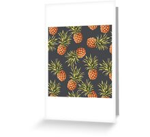 Pineapples Pattern Greeting Card