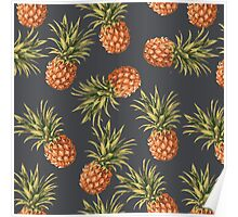 Pineapples Pattern Poster