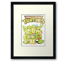 Retro Ninja Turtles Framed Print