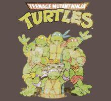 Retro Ninja Turtles Baby Tee