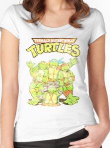 Retro Ninja Turtles Women's Fitted Scoop T-Shirt