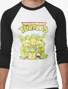 Retro Ninja Turtles Men's Baseball ¾ T-Shirt
