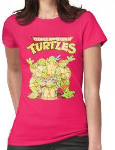 Retro Ninja Turtles Womens Fitted T-Shirt