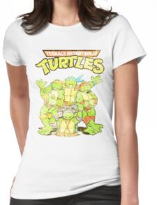 Retro Ninja Turtles Womens Fitted T-Shirt