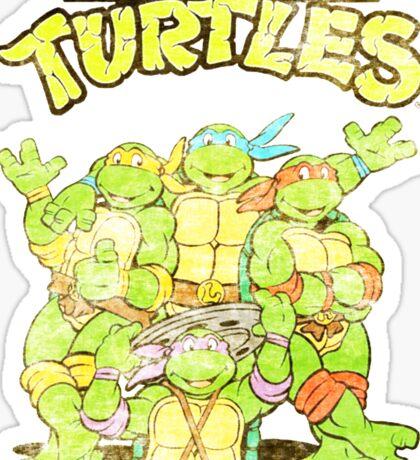 Retro Ninja Turtles Sticker