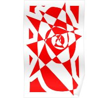 Sharp Spiral- Red Poster