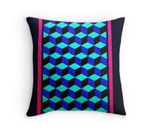 Amish Tumbling Blocks Throw Pillow
