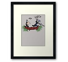 Mass Effect Calvin Hobbes Framed Print