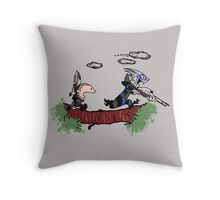 Mass Effect Calvin Hobbes Throw Pillow