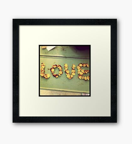 Love Roses Framed Print