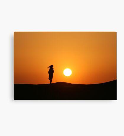 UAE Sunset Canvas Print