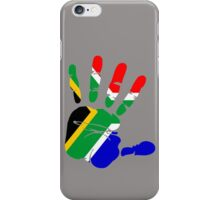 Flag of South Africa Handprint iPhone Case/Skin