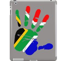 Flag of South Africa Handprint iPad Case/Skin
