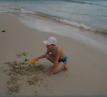 EASY DIGGING on the beach by DAdeSimone