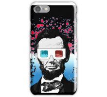 Abraham Lincoln - 3D (Black) iPhone Case/Skin