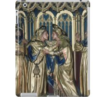 Visit of Cousins Oberammergau reredos Cathedral Lichfield Staffordshire England 198406050035 iPad Case/Skin