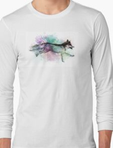 Marble Fox Color Splash Long Sleeve T-Shirt
