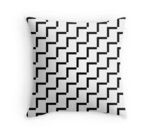 Geometric Black & White Throw Pillow