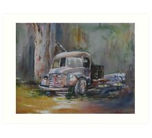The Old Truck Art Print