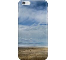 Clouds and Mountains Reflected in Great Salt Lake iPhone Case/Skin