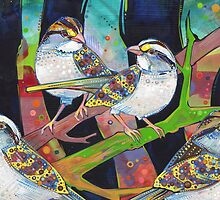 White-throated sparrows by Gwenn Seemel