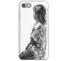 Figurative study in charcoal iPhone Case/Skin
