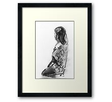 Figurative study in charcoal Framed Print