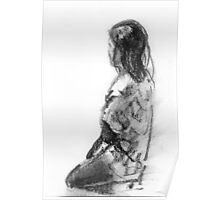 Figurative study in charcoal Poster