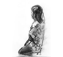 Figurative study in charcoal Photographic Print