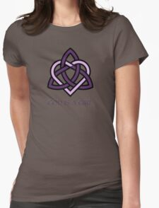 Triple Goddess God Is A Girl - Pagan Celtic Trinity Knot Triquetra Womens Fitted T-Shirt