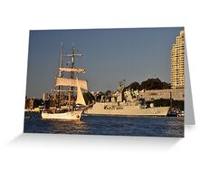 Fleet Review Ships - Old And New, Australia 2013 Greeting Card
