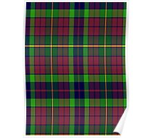 00309 Clare County Tartan  Poster