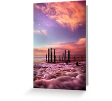 Wave Motion - Port Willunga. Greeting Card