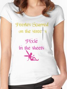 Peerless Scarred/Pixie Women's Fitted Scoop T-Shirt