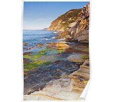 Morning light on the Mediterranean coast Poster