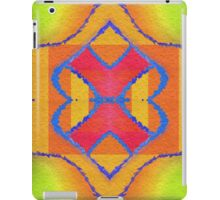 Kaleidoscopic Pattern in Vibrant Red, Green and Yellow  iPad Case/Skin