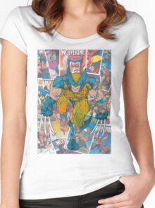 Vintage Comic Wolverine Women's Fitted Scoop T-Shirt