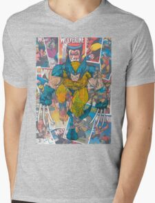 Vintage Comic Wolverine Mens V-Neck T-Shirt