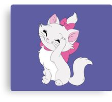 Marie Cleaning - The Aristocats Canvas Print