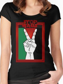 Stop Wars Palestine Women's Fitted Scoop T-Shirt