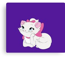 Marie Laying Down - The Aristocats Canvas Print