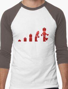 Evolution of Lego Man Men's Baseball ¾ T-Shirt